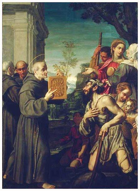 Święty Bernardyn ze Sieny obraz