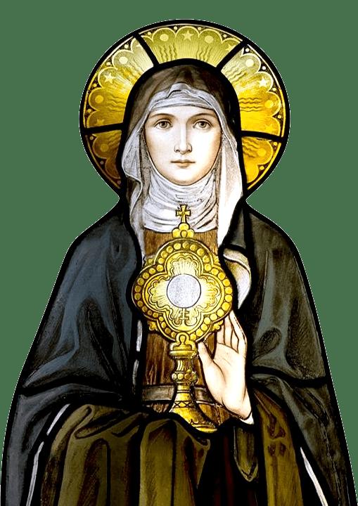 Św. Klara z Asyżu witraż